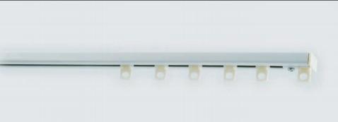 Tringle acier 25x10 extra-plat laqué blanc sans cordon de tirage68 image